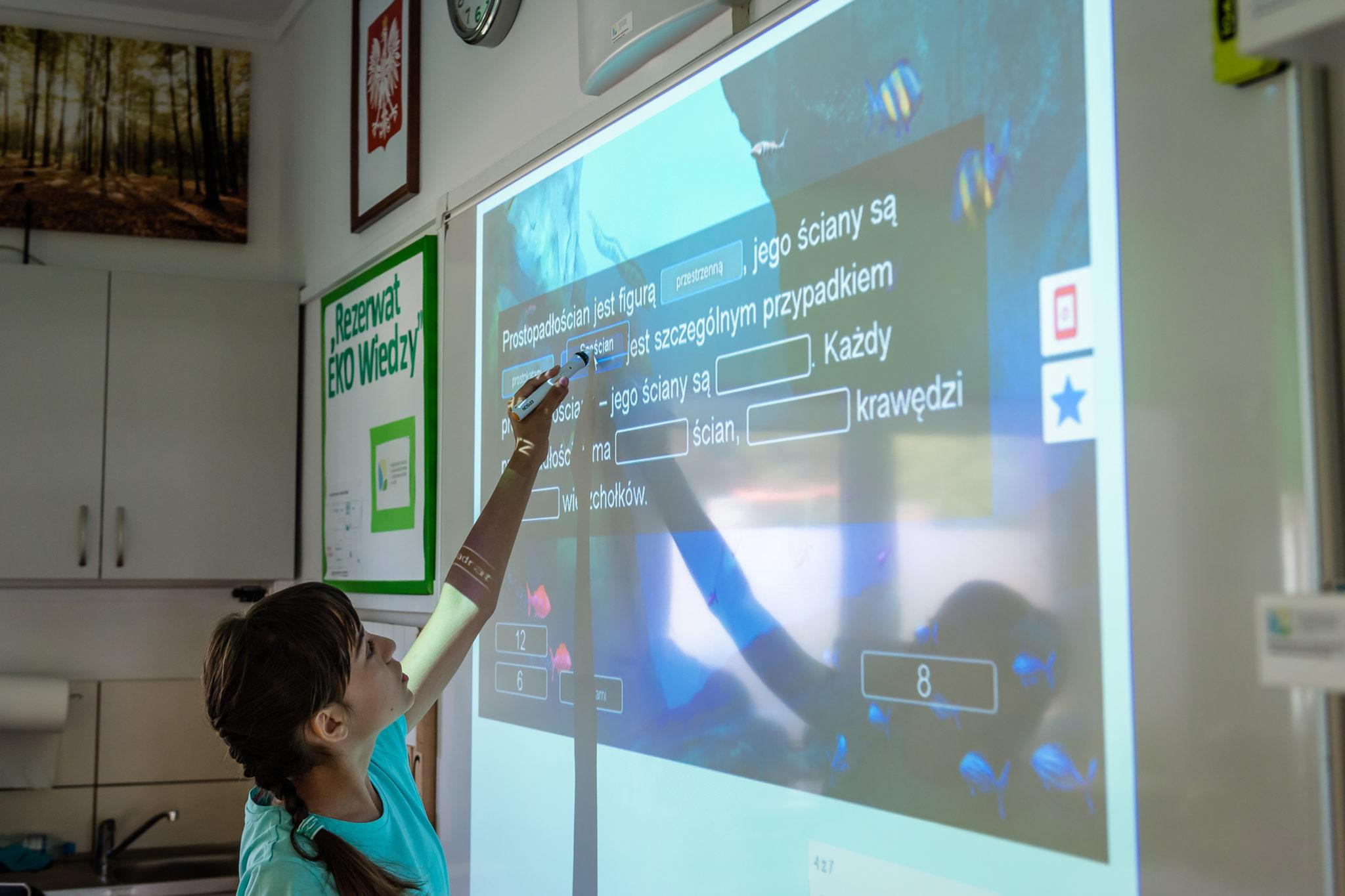 użycie projektora interaktywnego program Aktywna Tablica